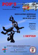 Parachutisme Azelot week-end POP'S 54210 Azelot du 30-05-2019 à 08:00 au 02-06-2019 à 19:00