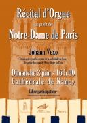 Concert de Solidarité pour Notre-Dame de Paris à Nancy 54000 Nancy du 02-06-2019 à 16:00 au 02-06-2019 à 17:00