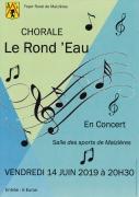 Concert Chorale Rond'Eau à Maizières 54550 Maizières du 14-06-2019 à 20:30 au 14-06-2019 à 23:00