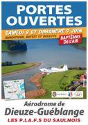 Portes Ouvertes Aérodrome de Guéblange-lès-Dieuze 57260 Guéblange-lès-Dieuze du 08-06-2019 à 10:00 au 09-06-2019 à 19:00
