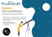 Soirée Télescopes au Planétarium d'Épinal 88000 Epinal du 14-06-2019 à 20:00 au 14-06-2019 à 23:30