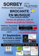 Brocante en musique au profit du Téléthon à Sorbey 55230 Sorbey du 01-09-2019 à 07:00 au 01-09-2019 à 18:00