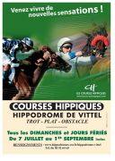 Hippodrome de Vittel Saison des Courses 88800 Vittel du 07-07-2019 à 11:00 au 02-09-2019 à 18:00
