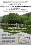 Pêche libre à l'étang de la Stampf Schaeferhof Dabo 57850 Dabo du 15-05-2019 à 14:00 au 25-09-2019 à 18:00