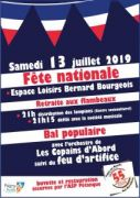 Fête Nationale et Feu d'artifice à Pagny-sur-Moselle 54530 Pagny-sur-Moselle du 13-07-2019 à 21:00 au 13-07-2019 à 23:59