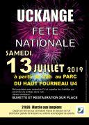 Feu d'Artifice à Uckange 57270 Uckange du 13-07-2019 à 20:00 au 13-07-2019 à 23:59