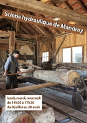Visite de la scierie hydraulique de Mandray 88650 Mandray du 06-07-2019 à 14:30 au 28-08-2019 à 17:30