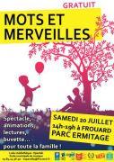 Mots et Merveilles  à Frouard 54390 Frouard du 20-07-2019 à 14:00 au 20-07-2019 à 19:00