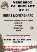 Repas Montagnard à Bussang 88540 Bussang du 26-07-2019 à 19:00 au 27-07-2019 à 00:00
