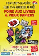 Foire du Livre à Fontenoy-la-Joûte et Vieux Papiers 54122 Fontenoy-la-Joûte du 15-08-2019 à 10:00 au 16-08-2019 à 18:00