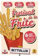 Festival de la Frite à Bettviller 57410 Bettviller du 10-08-2019 à 18:00 au 12-08-2019 à 23:59