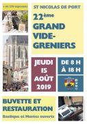 Vide-Greniers à Saint-Nicolas-de-Port 54210 Saint-Nicolas-de-Port du 15-08-2019 à 08:00 au 15-08-2019 à 18:00