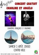 Concert Charline et Angélo à Golbey 88190 Golbey du 03-08-2019 à 20:30 au 03-08-2019 à 23:00