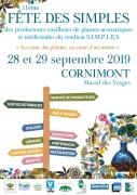 Fête des Simples 2019 à Cornimont  88310 Cornimont du 28-09-2019 à 09:00 au 29-09-2019 à 18:00