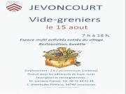 Vide-greniers à Jevoncourt 54740 Jevoncourt du 15-08-2019 à 07:00 au 15-08-2019 à 18:00