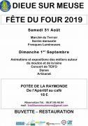 Fête du Four à Dieue-sur-Meuse  55320 Dieue-sur-Meuse du 31-08-2019 à 10:00 au 01-09-2019 à 18:00