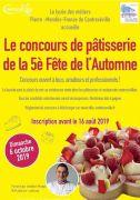 Concours de Patisserie Contrexéville Fête Automne 88140 Contrexéville du 01-08-2019 à 10:00 au 16-08-2019 à 23:30