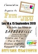 Fête du Jeu à Barbonville 54360 Barbonville du 14-09-2019 à 16:00 au 15-09-2019 à 18:00