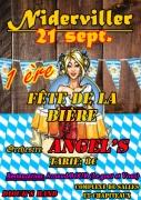 Fête de la Bière à Niderviller 57565 Niderviller du 21-09-2019 à 19:00 au 22-09-2019 à 03:00