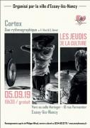 Spectacle Cortex, duo rythmographique à Essey-les-Nancy 54270 Essey-lès-Nancy du 05-09-2019 à 19:30 au 05-09-2019 à 20:45