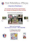 Expostion Philatélique à Eloyes 88510 Éloyes du 07-09-2019 à 09:16 au 08-09-2019 à 18:00