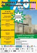 Journées du Patrimoine au Château de Gombervaux 55140 Vaucouleurs du 21-09-2019 à 10:30 au 22-09-2019 à 18:00