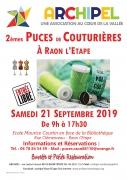 Puces de Couturières à Raon l'Étape 88110 Raon-l'Étape du 21-09-2019 à 09:00 au 21-09-2019 à 17:30
