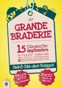 Grande Braderie de Saint-Dié-des-Vosges 88100 Saint-Dié-des-Vosges du 15-09-2019 à 08:00 au 15-09-2019 à 19:00