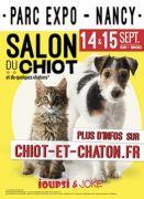 Salon du Chiot Parc Expositions Nancy 54500 Vandoeuvre-lès-Nancy du 14-09-2019 à 10:00 au 15-09-2019 à 18:30