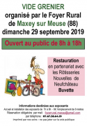 Vide-grenier à Maxey-sur-Meuse 88630 Maxey-sur-Meuse du 29-09-2019 à 08:00 au 29-09-2019 à 18:00