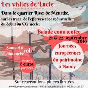 Journées du Patrimoine les Visites de Lucie à Nancy 54000 Nancy du 21-09-2019 à 10:00 au 22-09-2019 à 12:00