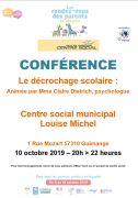 Conférence Le Décrochage Scolaire à Guénange 57310 Guénange du 10-10-2019 à 20:00 au 10-10-2019 à 22:00