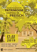 Journées du Patrimoine au Château de Preisch  57570 Basse-Rentgen du 21-09-2019 à 11:00 au 22-09-2019 à 18:00