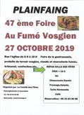 Foire au Fumé Vosgien à Plainfaing 88230 Plainfaing du 27-10-2019 à 08:00 au 27-10-2019 à 18:00
