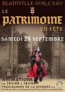 Le Patrimoine en Fête à Blainville-sur-l'Eau  54360 Blainville-sur-l'Eau du 28-09-2019 à 10:00 au 28-09-2019 à 18:00