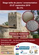 Stage taille de pierre Château de Gombervaux Vaucouleurs 55140 Vaucouleurs du 23-09-2019 à 09:00 au 27-09-2019 à 17:00