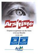 Exposition Ars'tiste à Ars-sur-Moselle 57130 Ars-sur-Moselle du 28-09-2019 à 10:00 au 29-09-2019 à 18:00