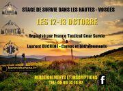Stage de Survie dans les Vosges Mission Black Panther 88250 La Bresse du 12-10-2019 à 08:30 au 13-10-2019 à 17:30