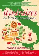 Conférence Itinéraires de Familles Transalpines à Saint-Dié Les Jardins de La Chapelle Saint Roch 14 Rue Claude Bassot Saint-Dié-des-Vosges du 06-10-2019 à 11:00 au 06-10-2019 à 13:00