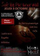 Soirée Paranormal au Manoir Maudit Laval-sur-Vologne 88600 Laval-sur-Vologne du 03-10-2019 à 20:30 au 03-10-2019 à 23:30