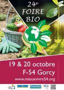 Foire Bio à Gorcy 54730 Gorcy du 19-10-2019 à 11:00 au 20-10-2019 à 18:00