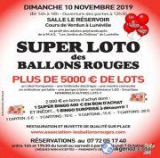 Super Loto des Ballons Rouges à Lunéville 54300 Lunéville du 10-11-2019 à 12:30 au 10-11-2019 à 19:00
