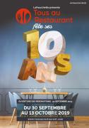 Opération Tous au Restaurant en Lorraine  Lorraine, Meuse, Meurthe-et-Moselle, Vosges, Moselle du 30-09-2019 à 10:00 au 13-10-2019 à 20:00