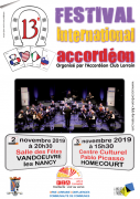 Festival International Accordéon Lorraine FIA 2019 Vandoeuvre-lès-Nancy, Homécourt du 02-11-2019 à 20:30 au 03-11-2019 à 19:00