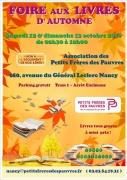 Foire aux Livres d'automne Petits Frères des Pauvres Nancy 54000 Nancy du 12-10-2019 à 08:30 au 13-10-2019 à 18:00