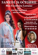 Élection Miss Excellence Lorraine 2019 à Clouange 57185 Clouange du 26-10-2019 à 19:30 au 26-10-2019 à 23:50