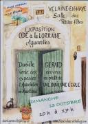 Exposition d'aquarelles à Velaine-en-Haye 54840 Velaine-en-Haye du 13-10-2019 à 10:00 au 13-10-2019 à 17:00