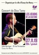 Concert de Dico Tomy à Essey-lès-Nancy 54270 Essey-lès-Nancy du 07-11-2019 à 20:00 au 07-11-2019 à 21:30