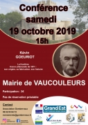 Conférence La frontière franco-allemande de 1871 Vaucouleurs 55140 Vaucouleurs du 19-10-2019 à 15:00 au 19-10-2019 à 18:00