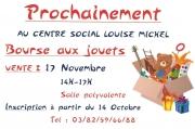 Bourse aux Jouets à Guénange 57310 Guénange du 17-11-2019 à 14:00 au 17-11-2019 à 17:00